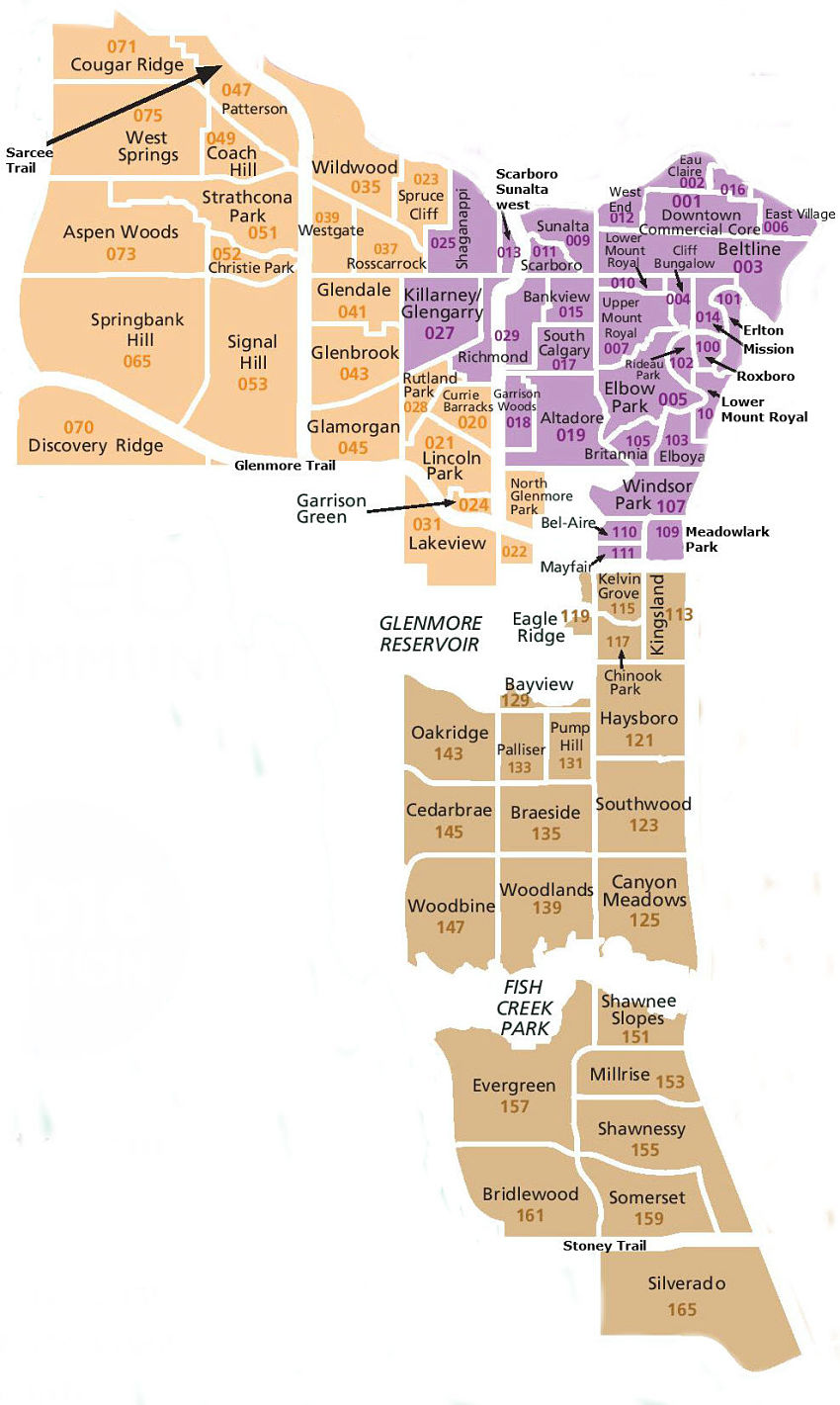 southwest Calgary map